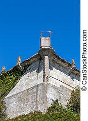 Cell Block A at Alcatraz Island Prison.