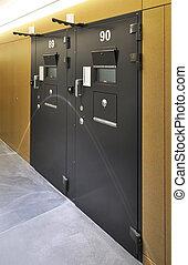 Cell door in a modern prison