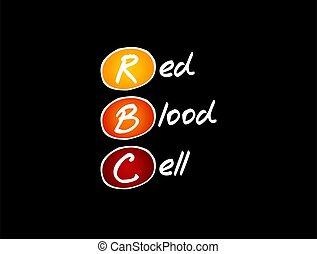 cell, -, medicinsk, blod, akronym, begrepp, röd, rbc