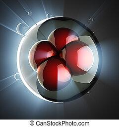 cell, mikro, vetenskaplig, illustration