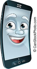 Cell Mobile Phone Mascot Cartoon Character