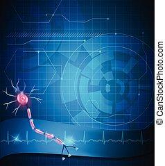 cell, nerv, bakgrund