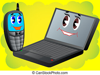 Cell phone and laptop