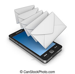 Cell phone email icon concept