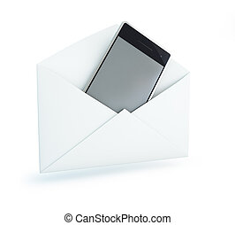 cell phone in an open letter