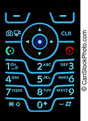 Cell Phone Keypad - Macro shot of an illuminted cell phone...