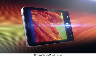 Cell phone Multimedia touchscreen