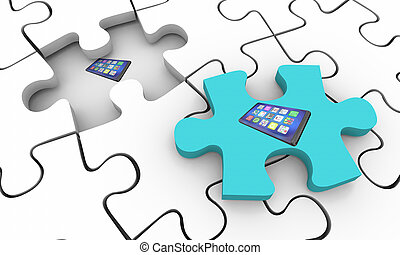 Cell Phone New Smart Device Puzzle Missing Piece Fix Solve...