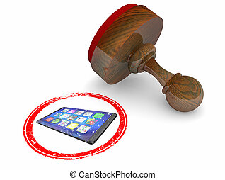 Cell Phone New Smart Device Stamp Official Choice Best Product Review 3d Illustration