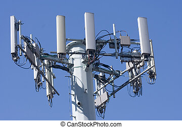 Cell phone tower - Cellular phone network telecommunication ...