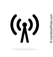 Cell phone tower icon on white background. Wireless...