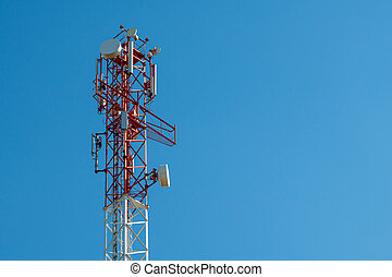 Cell Phone tower with wireless antennas