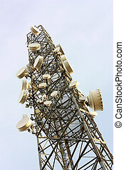 Cell phone transmitter base station tower