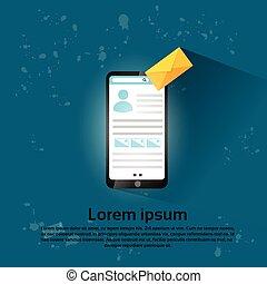 Cell Smart Phone Envelope Send Mail Social Network