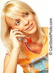 cell, talande, kvinnor, ringa