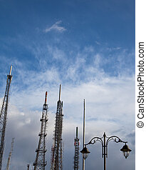 cell tower 2 - Communications Tower With Clouds