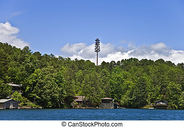 Cell Tower in Landscape