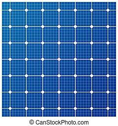 cell, vektor, sol, mönster
