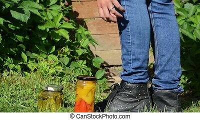 cellar creeper jars - girl goes to the basement overgrown...
