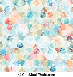 celle, mønster, firkant, seamless