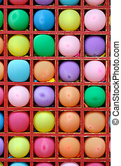 cellen, model, lucht, veelkleurig, boekenkast, ballons
