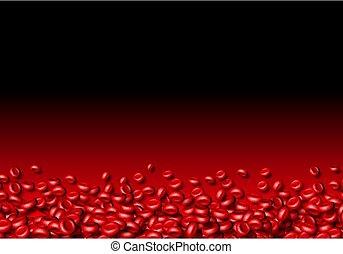 celler, blod, bakgrund, flytande, abstrakt, eller, ...