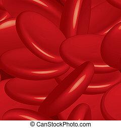celler, vektor, blod, seamless