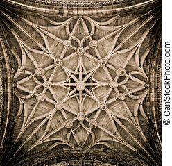 Celling decoration of Albi Cathedral, France