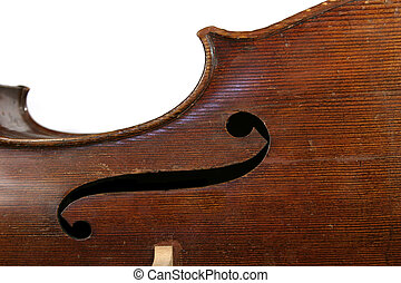Cello Abstract - Abstract cello image showing the f hole