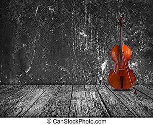 Cello in the interior
