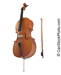 Cello isolated on white background