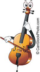 Cello Mascot - Mascot Illustration Featuring a Cello...