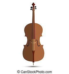 Cello music orchestra background isolated illustration violin vector musical instrument