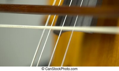 Cello playing close up - Cello playing a musical instrument...