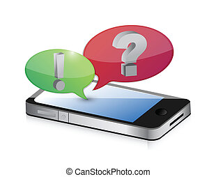 cellphone and bubble speech icon