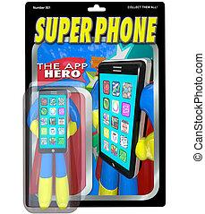 cellphone, apps, vente, téléphone, intelligent, super, mieux