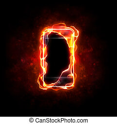 cellphone, brûlé