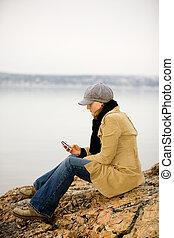 Cellphone by Ocean
