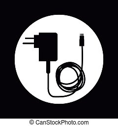 cellphone charger design, vector illustration eps10 graphic