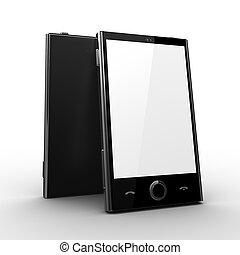 cellphone, chránit, -, čistý