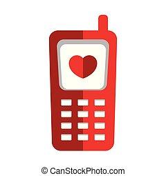 cellphone, coeur