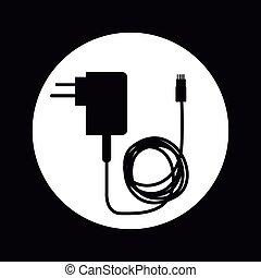 cellphone, conception, chargeur