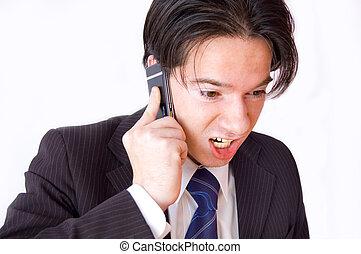 cellphone, conversation., zakelijk
