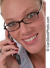 cellphone, femme, 6921