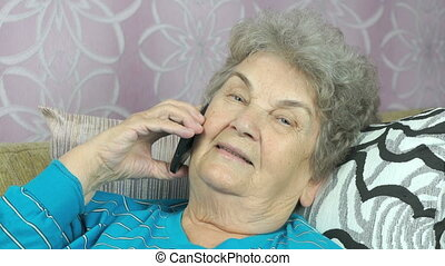 cellphone, femme, fille, vieilli, conversation