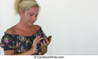 cellphone, femme