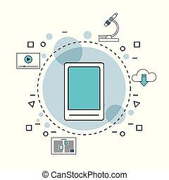 cellphone, gereedschap, internet