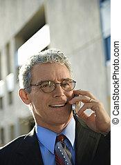 cellphone., homme