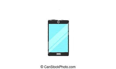 cellphone icon design, Video Animation HD1080