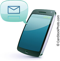 cellphone icon - Vector illustration of cool detailed...